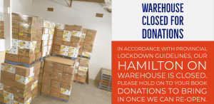 Warehouse Temporarily Closed
